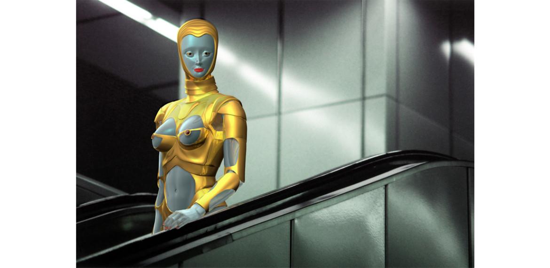 <em>&#8220;e&#8221; in Thierry Mugler&#8217;s Sexy Robot Outfit, Vienna</em>