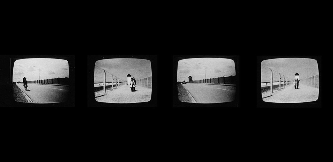 Stills from the opening sequence of <em>Dachau 1974</em>