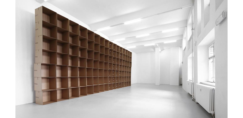 <em>112 prepared dc-motors, cotton balls, cardboard boxes 60x60x60cm</em>