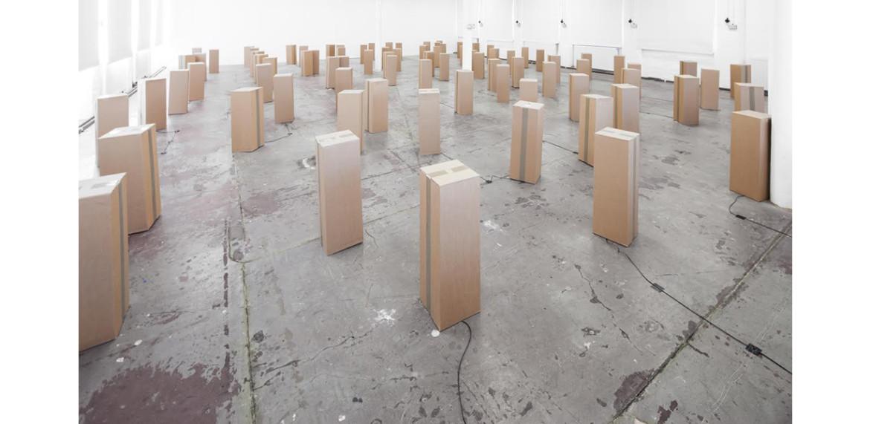 <em>96 prepared dc-motors, cardboard boxes 60x20x20cm</em>